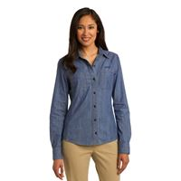 Picture of Ladies' Denim Button Down Shirt