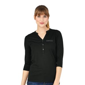 Picture of Ladies' 3/4 Sleeve Henley