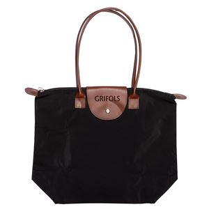 Picture of Zippered Tote with Leather Trim