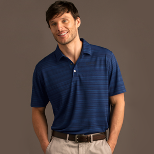 Picture of Men's Textured Stripe Performance Polo