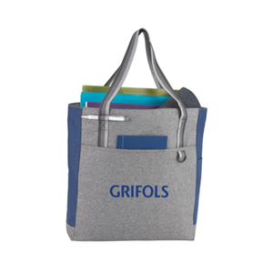 Picture of Heathered Zippered Tote
